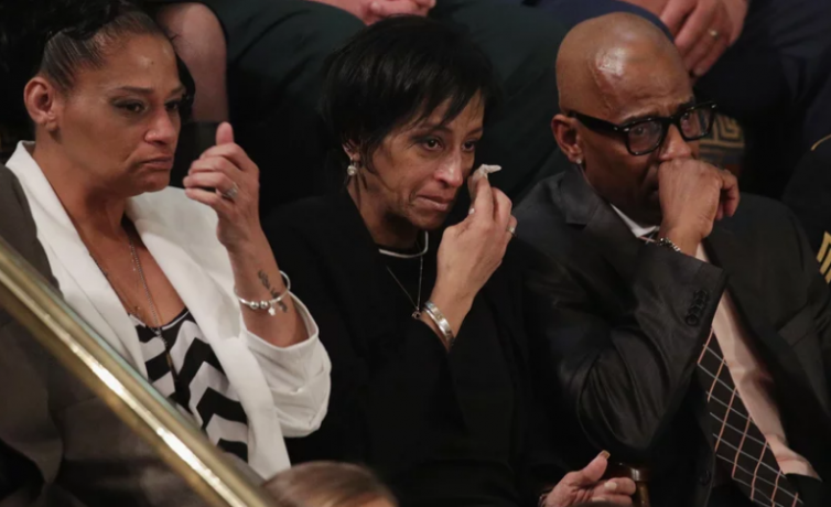 Elizabeth Alvarado, Robert Mickens, Evelyn Rodriguez and Freddy Cuevas, at State of the Union Address 2018