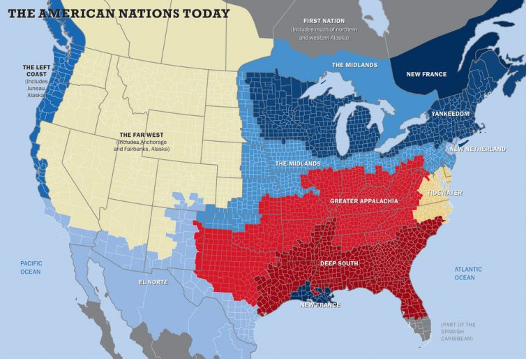 The American Nations Today, Colin Woodward and Tufts/Brian Stauffer