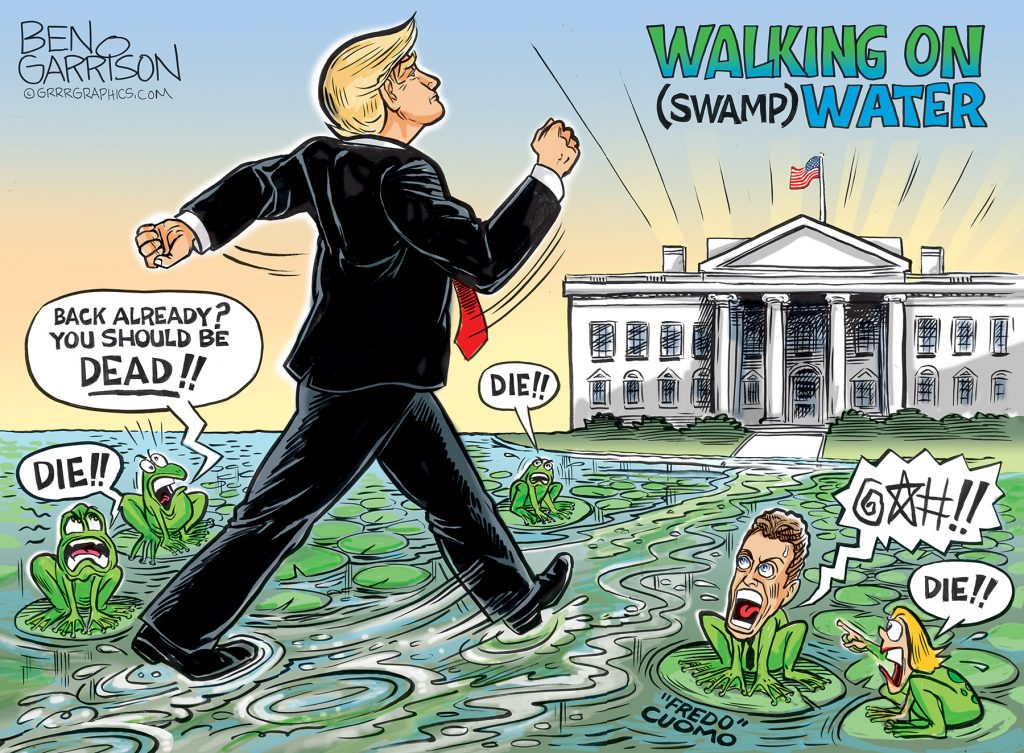 Trump Returns to the White House - Ben Garrison